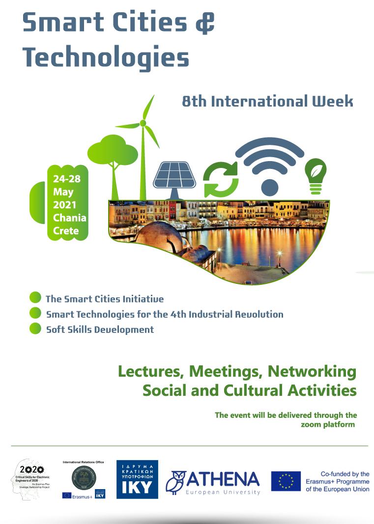 ATHENA Training School & 8th Erasmus Week in Smart Cities & Technologies
